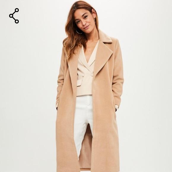 a774b810461b Missguided Jackets & Coats | Petite Camel Longline Duster Coat ...
